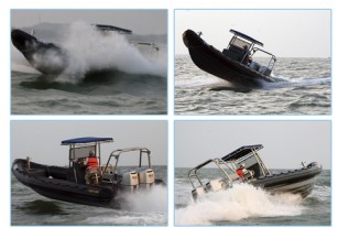 9.5 meter inflatable rubber fishing boat