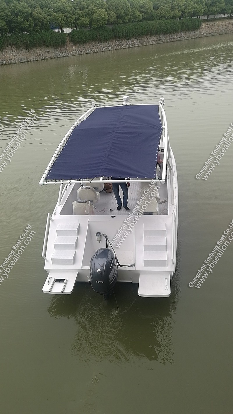 Aluminum alloy catamaran Fishing yacht